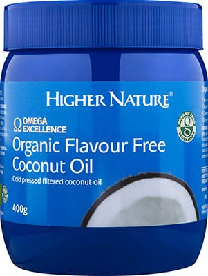 Higher Nature Omega Excellence Organic Coconut Oil 400g