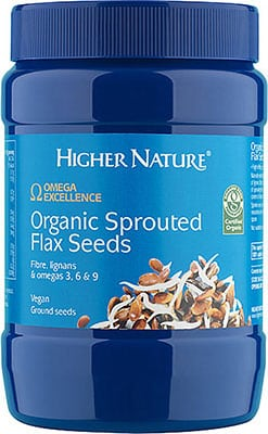 Higher Nature Omega Excellence Organic Sprouted Flax Seeds 250g