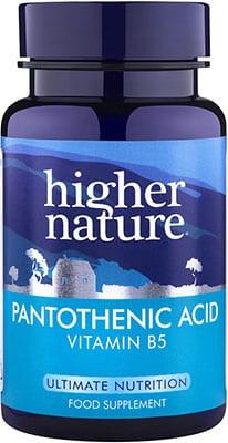 Higher Nature Pantothenic Acid 500mg 60 caps