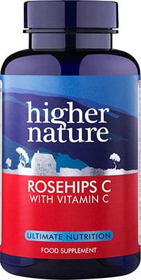 Higher Nature Vitamin C & Rosehips 1000mg 90 tabs