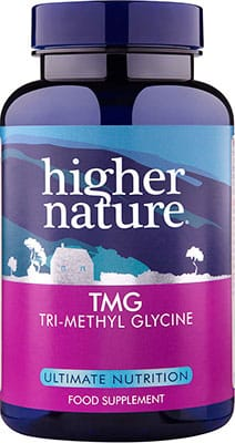 Higher Nature TMG (TriMethyl-Glycine) 500mg 90 caps