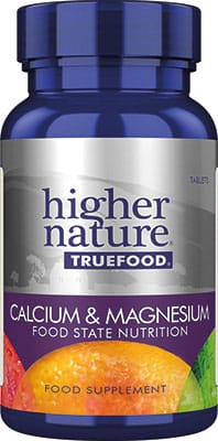 Higher Nature True Food Calcium Magnesium 60 tabs