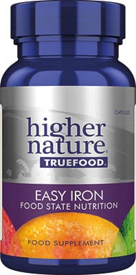 Higher Nature True Food Easy Iron 90 veg caps