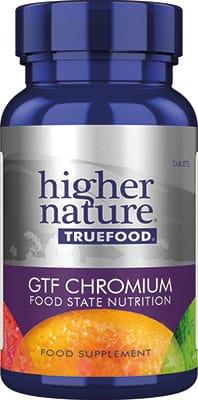 Higher Nature True Food GTF Chromium 90 tabs