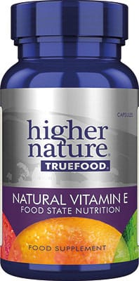 Higher Nature True Food Vitamin E 185ius 90 caps
