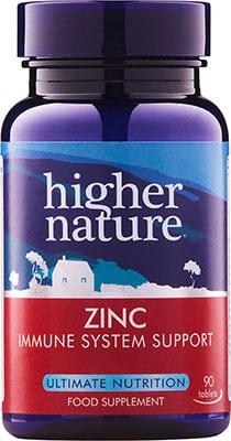 Higher Nature Zinc 90 tabs