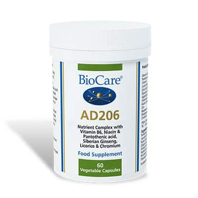 Biocare AD 206 Adrenal Support 60 Veg Caps