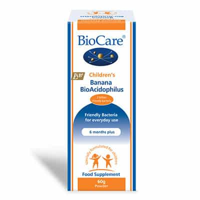 Biocare Children's Banana BioAcidophillus Powder 60g