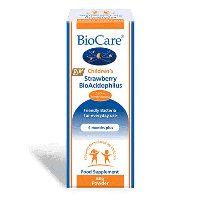 Biocare Children's Stawberry BioAcidophilus Powder 60g