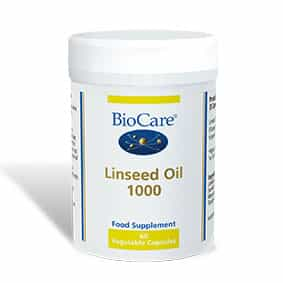 Biocare Linseed Oil 1000 60 Veg Caps