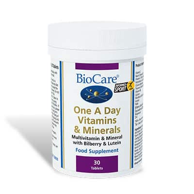 Biocare One A Day Vitamins and Minerals 30 Tabs