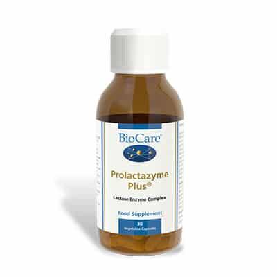 Biocare Prolactazyme Plus 30 Veg Caps (Dairy Enzyme Complex)