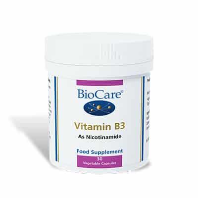 Biocare Vitamin B3 (Niacinamide) 30 Veg Caps