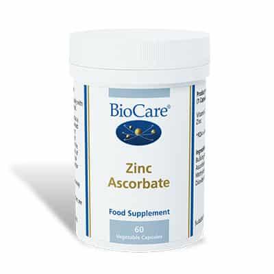Biocare Zinc Ascorbate 60 Veg Caps