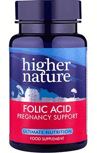 Higher Nature Folic Acid 400mcg 90 tabs