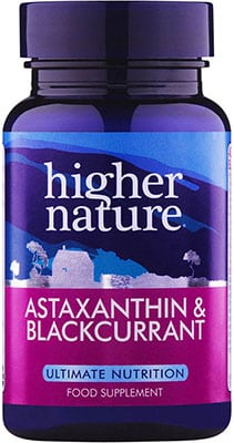 Higher Nature Astaxanthin & Blackcurrant (Asta) 90 caps