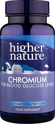 Higher Nature Chromium 200ug 90 tabs