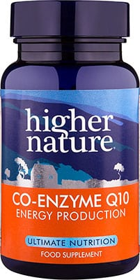 Higher Nature Co-Enzyme Q10 30mg 90 tabs