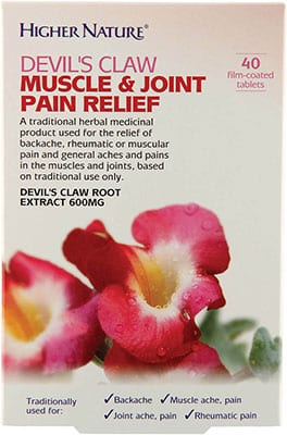 Higher Nature Devils Claw Muscle & Joint Pain Relief 40 coated tabs