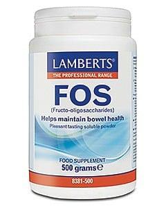 Lamberts FOS (Fructo-oligosaccharides) 500g Powder