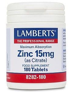 Lamberts Zinc Citrate 15mg 180 tabs