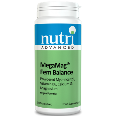 Nutri MegaMag Fem Balance Powder (Orange Flavour - 240g, 30 servings)