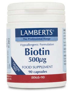 Lamberts Biotin 500mcg 90 caps