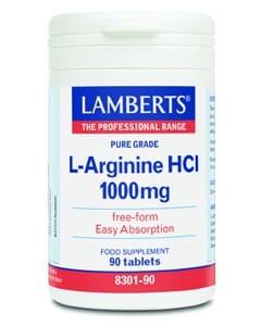 Lamberts L-Arginine HCI 1000mg 90 caps