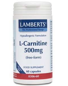 Lamberts L-Carnitine 500mg 60 caps