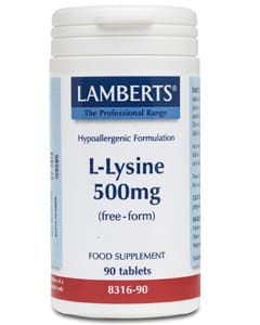 Lamberts L-Lysine 500mg 90 tabs