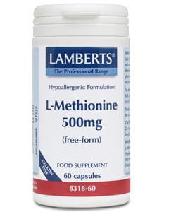 Lamberts L-Methionine 500mg 60 caps