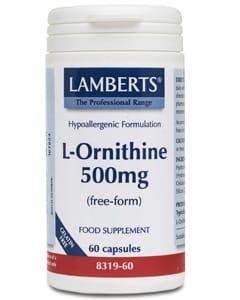 Lamberts L-Ornithine 500mg 60 caps