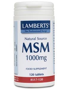 Lamberts MSM 1000mg 120 tabs