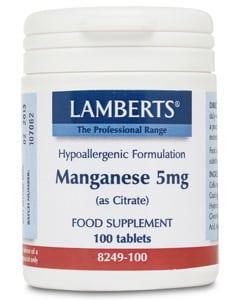 Lamberts Manganese 5mg 100 tabs