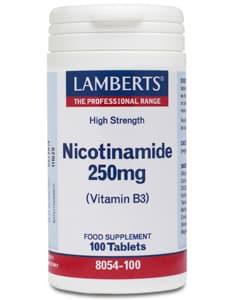 Lamberts Nicotinamide (No Flush B3) 250mg 100 tabs