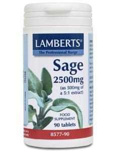 Lamberts Sage 2500mg 90 tabs