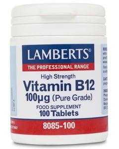 Lamberts Vitamin B12 100mcg 100 tabs