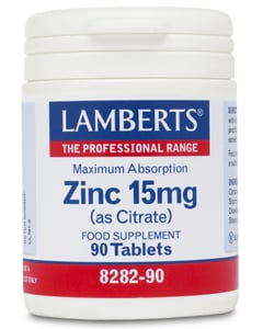 Lamberts Zinc Citrate 90s 15mg 90 tabs
