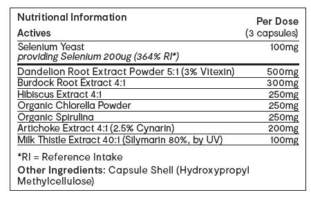 Invivo Bio Clear Endotox-LV 90 capsules table